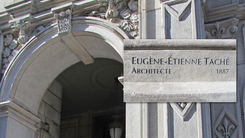 Épigraphe à la mémoire du grand architecte québécois Eugène-Étienne Taché