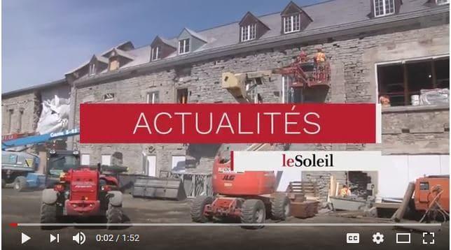 Vidéo : Travaux de stabilisation des Nouvelles-Casernes, Québec - Le Soleil, Quotidien.