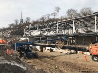 La station de la Plage, chantier de la phase 3 de la promenade Samuel-De Champlain