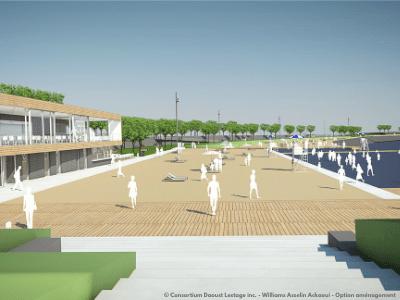 La station de la Plage, maquette de la phase 3 de la promenade Samuel-De Champlain