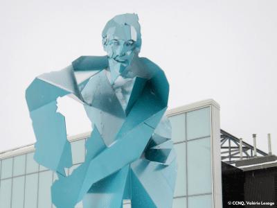 Monument en hommage au hockey à Québec, Briser la Glace