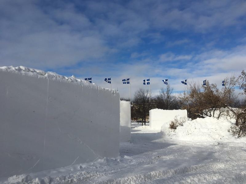 Sculpture sur neige au parc de l'Amérique-Française